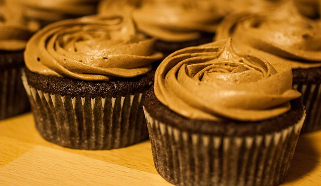 Nutella-filled mocha cupcakes with Nutella-mocha buttercream frosting
